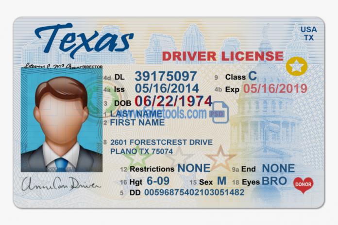 ake Texas drivers license